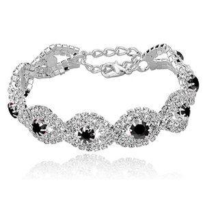 Silver Plated Crystal Bracelets